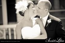 wedding photo - Wedding Headpiece with Birdcage Veil -- Scarlett's Veil and Headpiece