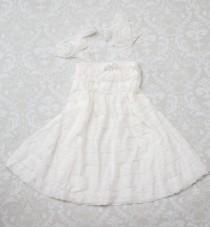 wedding photo - White Lace Flower Girl Dress -Flower Girl Dress- Flower Girl-Country Wedding-Lace Flower Girl Dress-Junior Bridesmaid Dress-Lace Wedding