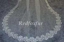 wedding photo - Lace cathedral veil, wedding veil, the bride lace veil, bridal veil, white ivory veil, wedding headpiece, cathedral wedding veil