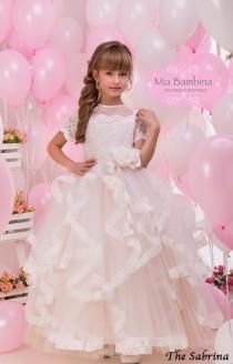 wedding photo - Lace Flower Girl Dress First Communion Dress