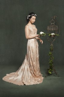 wedding photo - Nancy Leung Couture Lace Muse Collection - Polka Dot Bride