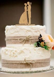 wedding photo - bride and groom silhouette wedding cake topper,funny cake topper,rustic wedding cake topper,unique wedding cake topper,wedding decor