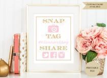 wedding photo - Wedding Hashtag sign (PRINTABLE FILE) - Hashtag wedding sign - Hashtag printable - Instagram Birthday