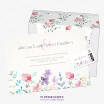 wedding photo -  Pretty Wildflowers   Rustic Wedding Invitations