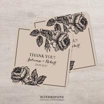 wedding photo - Rustic floral wedding favor sticker, fully customisable.