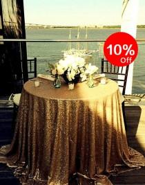 wedding photo - 10%OFF,  Gold sequin tablecloth,New year Sparkly Tablecloth, Sequin tablecloth, All sizes available