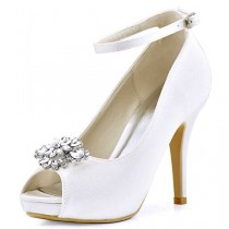 wedding photo - Peep Toe Platform With Rhinestones ShoesClips
