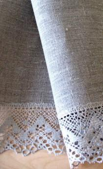 """wedding photo - Round Tablecloth Wedding Tablecloth Lace Tablecloth Christmas Gift Linen Tablecloth Burlap Tablecloth Prewashed Linen Lace in diameter 59"""""""