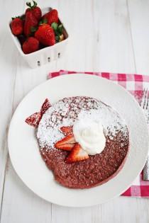 wedding photo -  Red Velvet Baked Pancake with Honeyed Whipped Cream Cheese