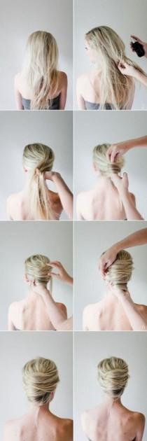 wedding photo -  35 DIY Hairstyle Tutorials With Pictures
