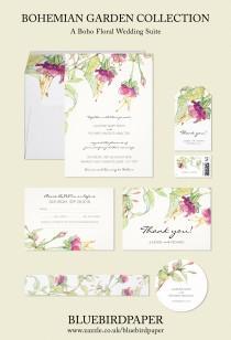 wedding photo -  Bohemian Garden | Boho Floral Wedding Set
