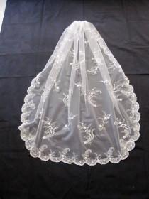 wedding photo - The Victoria Veil.  Beaded and Embroidered - a Classic
