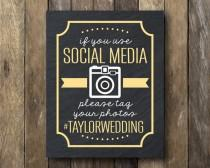 wedding photo - Hashtag Wedding Printable - Social Media Sign - Wedding Hashtag Sign - Printable Hashtag Sign - Hashtag Sign Print - Wedding Hashtag