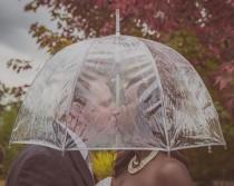 wedding photo - Rainy Fall Wedding In Washington - The SnapKnot Blog