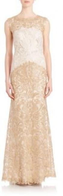 wedding photo - Tadashi Shoji Embroidered Lace Gown