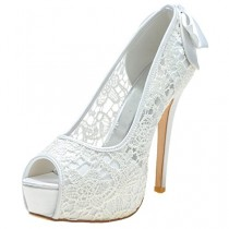 wedding photo - Peep Toe Stiletto High Heels