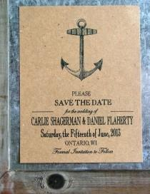4863b95cd nautical save the dates, anchor save the date cards, vintage beach wedding