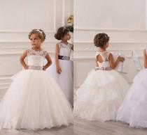 a06003919 Ageant Dresses For Girls Teens Off Shoulder Appliques Lace Princess Flower  Girl Dresses Champagne Children Lace Up Birthday Dress Girl Gown Online  with ...
