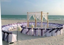 wedding photo - 4 Ideas For Small Wedding Ceremony Seating - The SnapKnot Blog