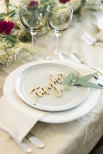 wedding photo - A Metallic Holiday Table