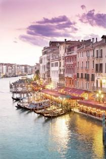 wedding photo - Venice Photography - Evening At The Rialto Bridge, Sunset On The Canal, Gondolas, Wall Decor, Italy Travel Photograph