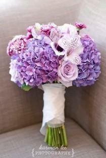 wedding photo - 30 Purple & Blue Wedding Bouquets