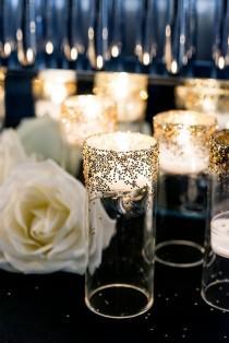 wedding photo - Wedding Day Ideas- Sparkling Gold And Creamy Whites