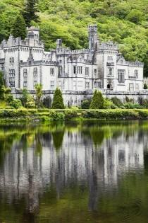 wedding photo - Kylemore Abbeycounty Galway Ireland Greeting Card By Peter Zoeller