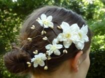 wedding photo - Bridal Hair Flower, Rustic Wedding Hairclip, Woodland Wedding, Country Wedding Hair Accessory