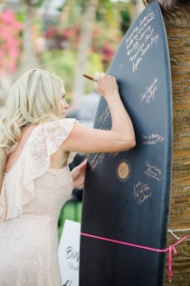 wedding photo - Surf Board Guestbook