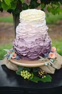 wedding photo - 34 Delicate Ombre Wedding Cake Ideas From Pinterest
