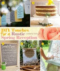 wedding photo - Rustic Spring Wedding Elements You Can DIY