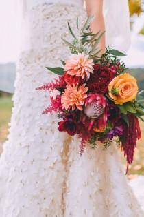 wedding photo - Seasonal Autumn Wedding In New England