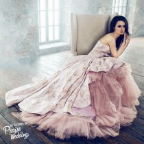 wedding photo - Timeless And Chic! No Princess Can Say No To Pink   Gold!