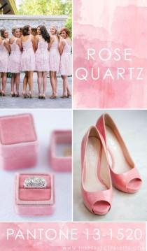 wedding photo - Pantone - Rose Quartz 13-1520