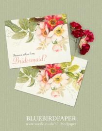 wedding photo -  Vintage Bouquet, a Floral Bridesmaid Card