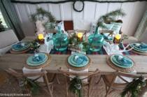 wedding photo - Lake Cottage Style Christmas Tablescape {& Giveaway