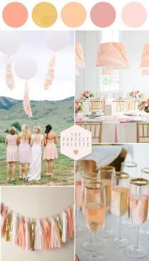 wedding photo - Pretty Peachy Blush Tones   Gold Wedding Inspiration