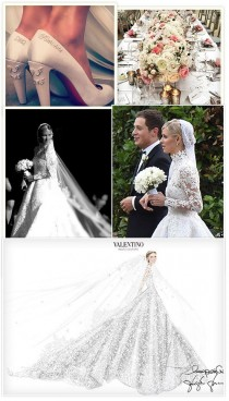 wedding photo - La Robe De Mariée Valentino De Nicky Hilton