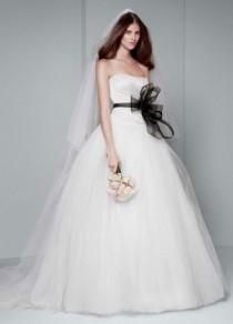 wedding photo - White By Vera Wang Draped Wedding Dress