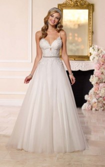 wedding photo - A-Line Tulle Wedding Dress