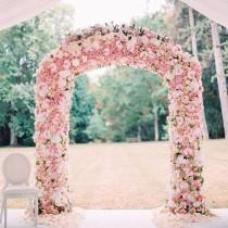 "wedding photo - Belle The Magazine On Instagram: ""The Floral Arch Is So Stunning, Perfect To Say ""I Do"" Under!  Via: @rosaclarabridal"