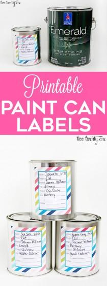 wedding photo - Paint Can Labels