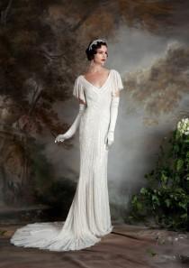 wedding photo - 20 Art Deco Wedding Dress With Gatsby Glamour