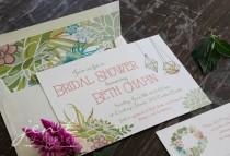 wedding photo - Succulent Bridal Shower Invitations