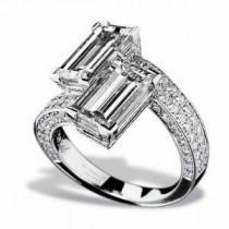 wedding photo - Chopard Ring - Haute Joaillerie Diamond Bypass Ring