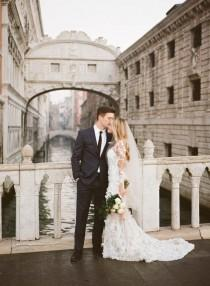 wedding photo - It Doesn't Get More Beautiful Than A Pronovias Gown In The Streets Of Venice