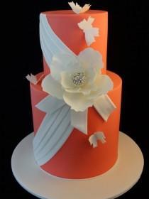 wedding photo - Springtime Beauty — Other / Mixed Shaped Wedding Cakes