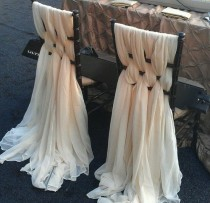 wedding photo - WOW..Elegant Or Vintage Look Lush Chiavari Chair Chiffon Treatment Event/Wedding