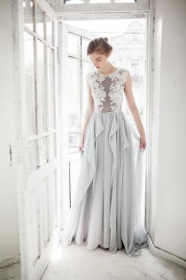 wedding photo - Grey Wedding Dress // Iris